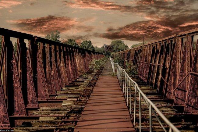 Ook gefotografeerd? De roestige brug bij Griethausen