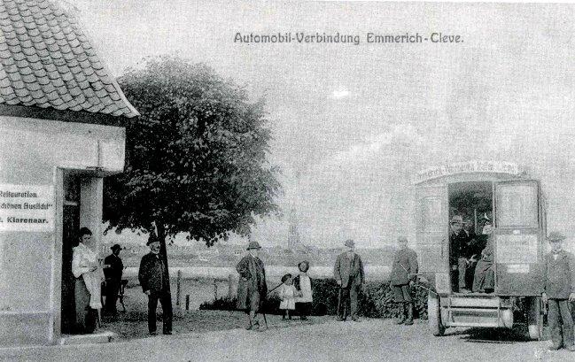 De vroege autoverbinding Emmerich-Kleve