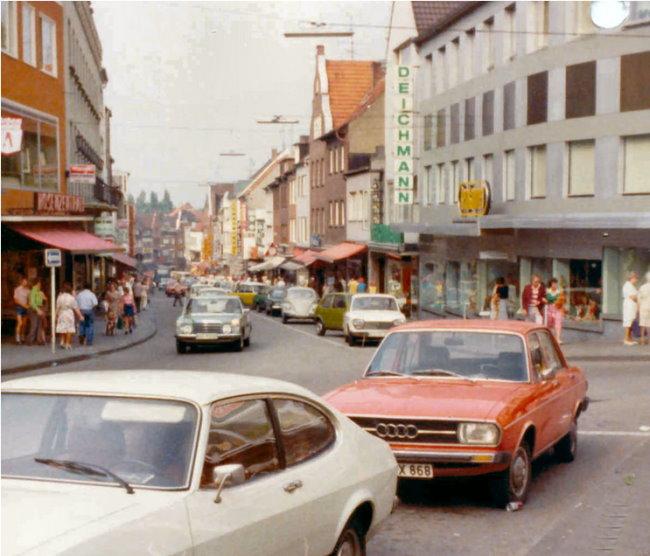 Parkplätze auf der Großen Straße in Kleve
