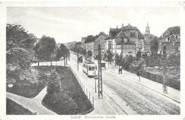 Die frühere Emmericher Straße in Kleve