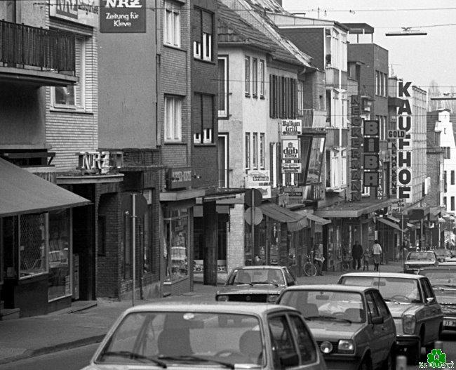Meest bekend: De Grosse Strasse in Kleve, begin jaren tachtig
