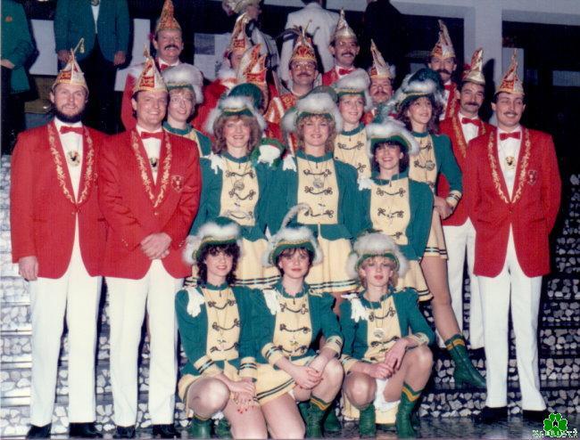 Erinnerst Du Dich an die Prinzengarde 1985/86 mit den Brejpott-Tröpfchen?
