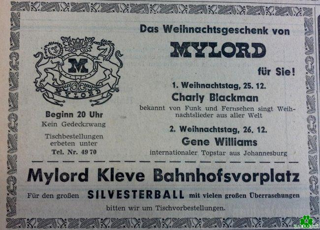 Warst Du damals mal im Mylord von Kleve?