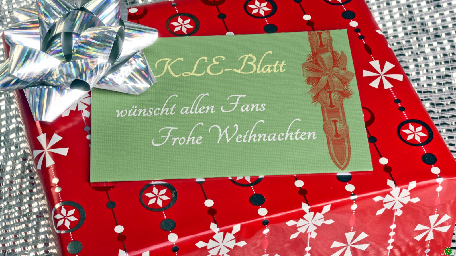 Frohe Weihnachten allen KLE-Blatt-Fans