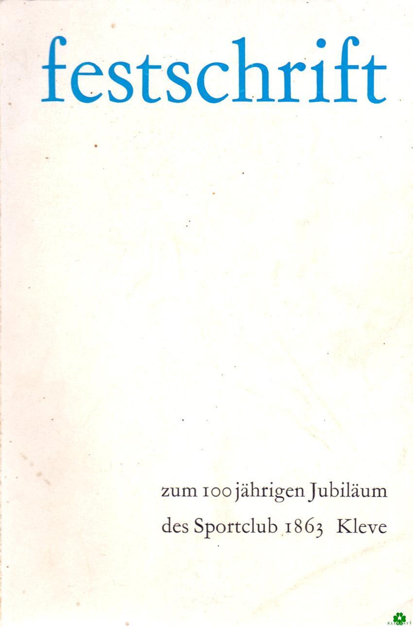 Festschrift Sportclub 1863 Kleve