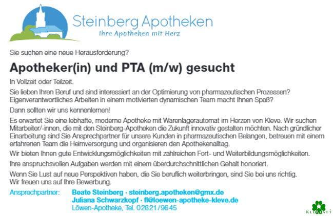 Stellenangebot Steinberg-Apotheken