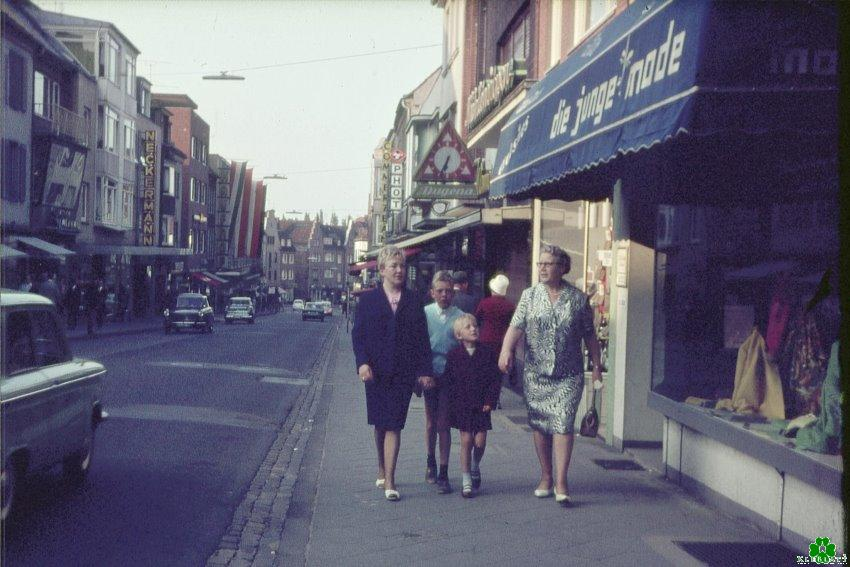 Heb je in 1965 zelfs langs de Große Straße gelopen?