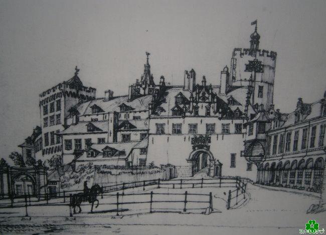 Die schiefe Burg von Kleve