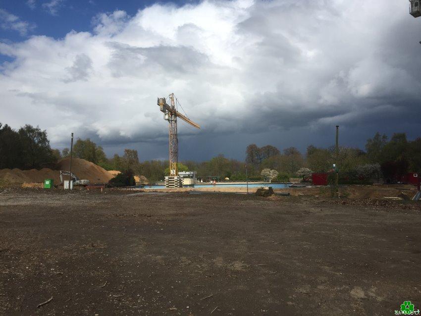 Het nieuwe gebouw van de Sternbuschbade