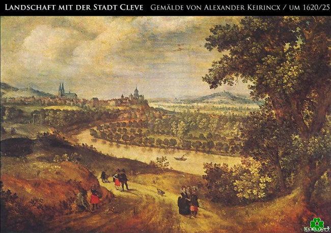 Stadt Cleve in den 20ern des 17.Jahrhunderts