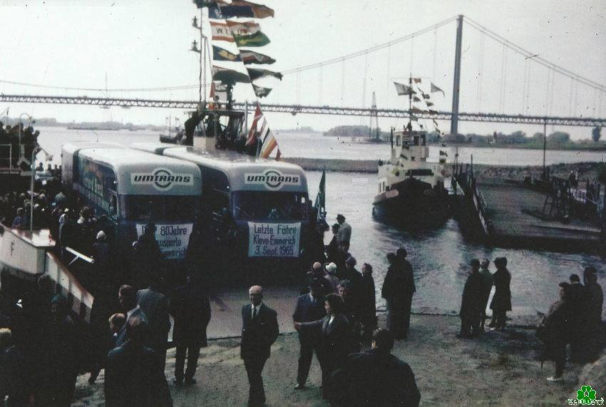 Dat was de laatste veerboot tussen Kleve en Emmerich
