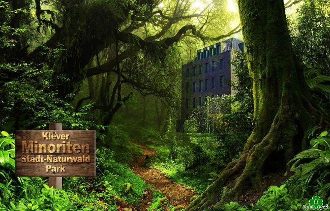 Kent u het Klever Minoriten Stadt-Naturwald-park al?