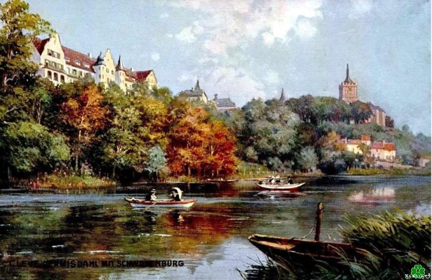 Foto of schilderij? Het hof van de gekleurde Prinzenhof